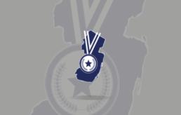 Garden State Trampoline Academy Logo on gray background.