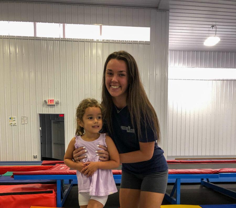 Haley Anderson and a Gymnast.